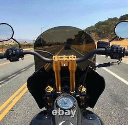 1 1/8'' 28mm Handlebars Risers 11 Club Style For Dyna Softail Sportster Touring