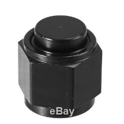 10AN Female Flare Cap Plug Nut Aluminum Block Off Fitting Adapter Anodized Black