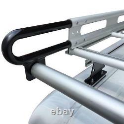 123 H2 Cargo Ladder Van Rack For Mercedes Sprinter 2007-On (Low Roof) Black