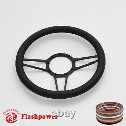 14 Billet Steering Wheels Black Full Wrap Impala Chevy II Nova Chevelle with Horn