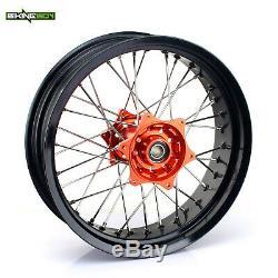 17 Supermoto Wheels Hubs Rims set for KTM EXC SX SXF XC EXC XC-W SXS 125-540