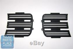 1969 Camaro Rally RS Headlight Grilles Billet Aluminum Black Anodized Pair