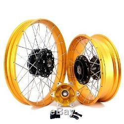2.1521'' /4.2517 Tubeless Wheels Rims Set For BMW F800GS Adventure 2008-2020