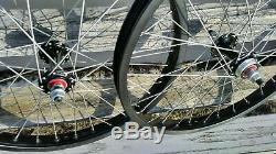 20 Araya 7X Sealed BMX Wheels with Flip-Flop Pair Black Anodized