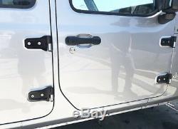 2018 Jeep Wrangler JL 2-DOOR Billet Aluminum JL Door Hinge Black Anodized