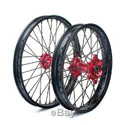 21/18 Complete Wheels Rims Set For Honda CR125R CR250R CRF 250 450 R X 2002-2019