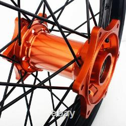 21 18 Enduro MX Wheel Rim Hub Set For KTM 125-530 EXC SX XC SX-F SXS Husqvarna