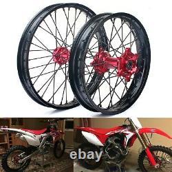 21/18 Wheels Rims Set For Honda CR125R CR250R CRF250R/X 04-13 CRF450R/X 02-12