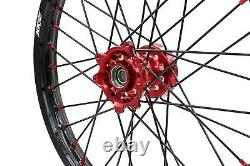 21/19 Complete Wheel For Honda Crf250r 2014-2021 Crf450r 2013-2021 Red Nipple
