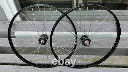 26 7X style Sealed High Flange BMX/Cruiser Wheels Freewheel Pair Black Anodized