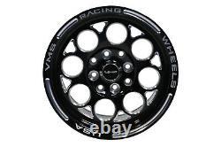 2x Black Modulo Milling Finish Drag Racing Wheels Rims 13x8 4X100/4X114 ET20