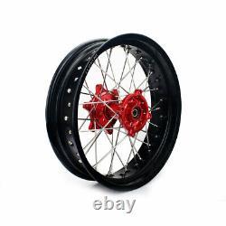 3.5/4.25 17 Front Rear Wheels Rims Hubs for Honda XR650L 1997-2019 Supermoto