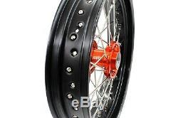 3.5/4.2517 Supermoto Motard Wheel Rim Fit Ktm Sx Sx-f Excf Exc-r Xcw 125-530cc