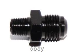 6AN AN-6 TO 1/8 NPT Male Thread Aluminum Anodized Fitting Adapter BLACK