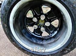 7 x 16 Authentic Fuchs Wheels, Center painted black, Anodized Aluminum outer rim