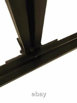 8020 Series-Triple Monitor Stand Lite-Free Standing-Black Anodized Aluminum