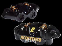 Accossato Radial Brake Caliper Set w S Track Pads 108mm Anodized Black Body