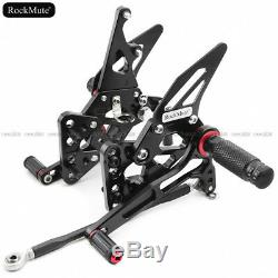 Adjustable Rear Set Footrest Footpeg For Suzuki GSXR1000 GSX-R1000 2005-2006