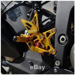 Adjustable Rearset Footrest FootPeg For Kawasaki Ninja ZX-6R ZX636 2005-2006