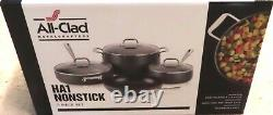 All-Clad HA1 Hard Anodized Nonstick 7 Piece Cookware Set NEW
