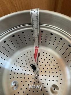 All-Clad HA1 Hard Anodized Nonstick 7qt Stockpot w Pasta insert /lid NEW