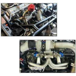 Aluminum Car 60mm V Band V60 Flange Turbo Wastegate For BMW Subaru Honda Black
