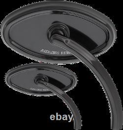 Arlen Ness Black Cateye Billet Pair Front Handlebar Mirror Kit Harley Davidson