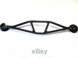 BMW E46 M3 Series Solid Aluminium Front Upper Strut Brace Bar Anodised Black