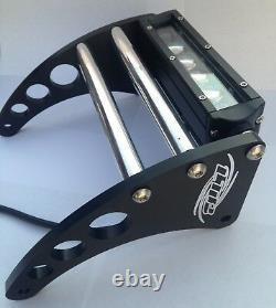 Banshee Bumper Yamaha YFZ350 LED Front Bumper Black Anodized Aluminum