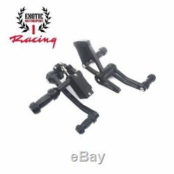 Billet Aluminum Forward Controls Harley Davidson Softail 2000-17 Anodized Black