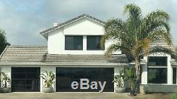 Black Anodized Aluminum & 1/2 Inulated Grey Tinted Glass Garage Door 9'x7