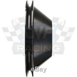 Black Billet Aluminum Small Block Chevy Pulley Kit LWP SBC 350 327