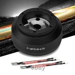 Black NRG SRK-195H Steering Wheel Hub Adapter For 84-93 Mercedes-Benz 190E W201