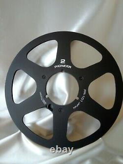 Black Pioneer PR-101 Anodized Aluminum Metal 10.5 Reel for 1/4 tape