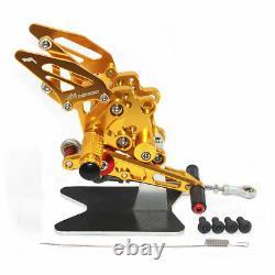 CNC Adjustable Rear Set FootPeg Pedal For YAMAHA YZF R1 2009-2014
