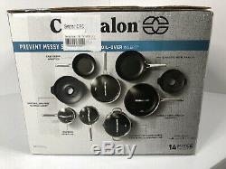 Calphalon Classic 14 Piece Non-Stick No-Boil-Over Hard Anodized Cookware Set