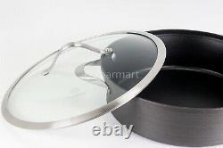 Calphalon Contemporary Nonstick Saute Pan 5 qt Hard Anodized Glass wi Lid Black