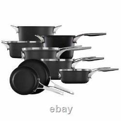 Calphalon Premier 12-piece Cookware Hard Anodized Aluminum Space Saving