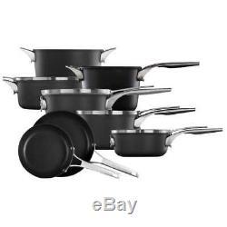 Calphalon Premier 12-piece Hard Anodized Space Saving Cookware #2 (0978)