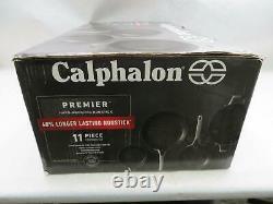 Calphalon Premier Hard-Anodized Nonstick 11-Piece Cookware Set, Black 2029626