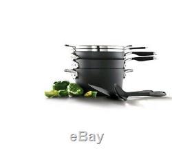 Calphalon Select Space Saving Hard Anodized Nonstick Starter Pan Set Cookware 7