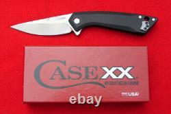 Case XX Southern Grind CG01 Black Anodized Framelock Drop Point Flipper Knife