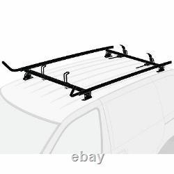 Chevy City Express 2015-present Black 2x Ladder Holder Aluminum Roof Rack
