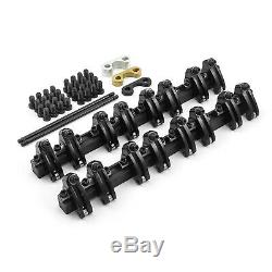 Chevy SBC 350 Shaft 1.5 Ratio DNA Aluminum Roller Rocker Arms Set