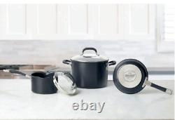 Circulon professional pan set Hard Anodised Induction 13 Piece Cookware Black UK