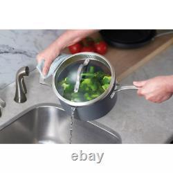 Cookware Set 15-Piece Hard Anodized Aluminum Kitchen Cooking Pots Pans Nonstick