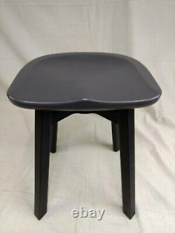Emeco by Nendo Su Small Stool with Eco Concrete Seat and Black Anodized Legs