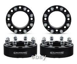 Fits 06-08 DODGE RAM 1500 Mega Cab 4x 2 Aluminum Wheel Spacer Kit Black 4X2 4X4