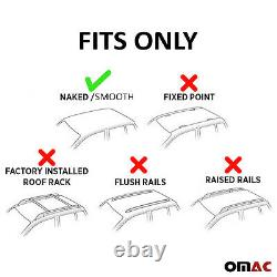 Fits Acura MDX 2014-2021 Smooth Roof Rack Cross Bar Carrier Rail Black Aluminum