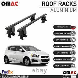 Fits Chevrolet Sonic Hatchback 2012-2016 Smooth Roof Rack Cross Bar Carrier Rail